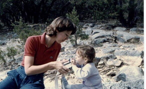 Hiking when I was less than 2 years old. Told you I was raised right ;)