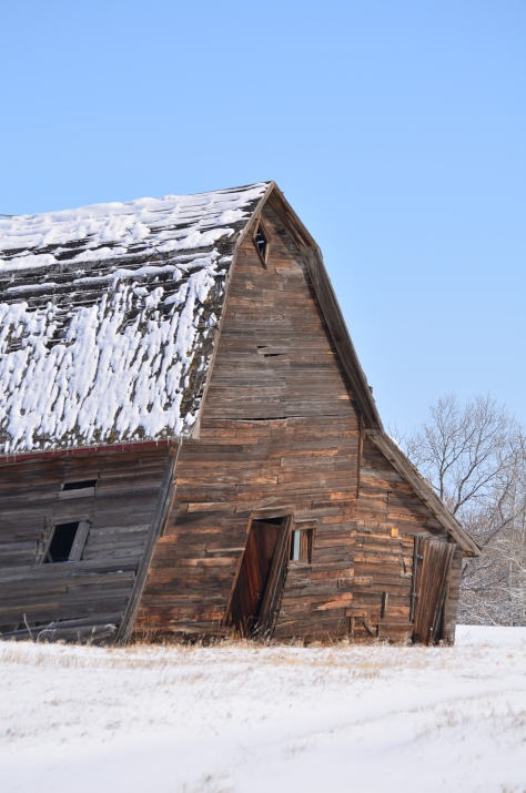 Falling down barn