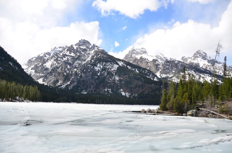 We hiked to a frozen alpine lake, and were the only ones there. So peaceful.
