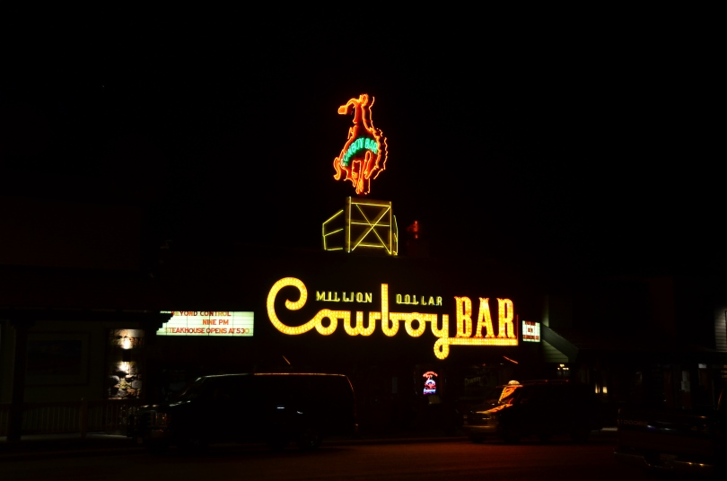 Million Dollar Cowboy Bar - friendly bartenders, but you have to sit on a saddle at the bar...