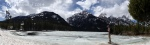 Panoramic of a beautiful frozen lake (IPhone Photo)