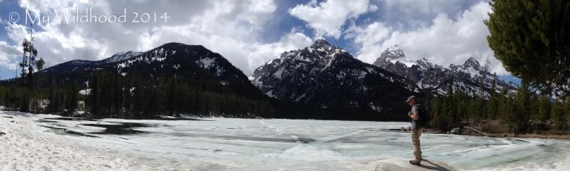 Panoramic of a beautiful frozen lake (IPhone Photo)