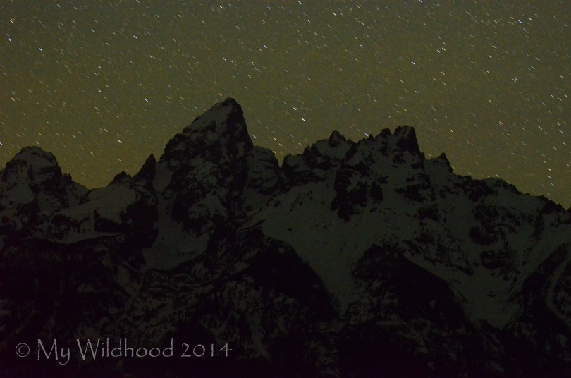 Second attempt at astrophotography, this time over the Grand Tetons