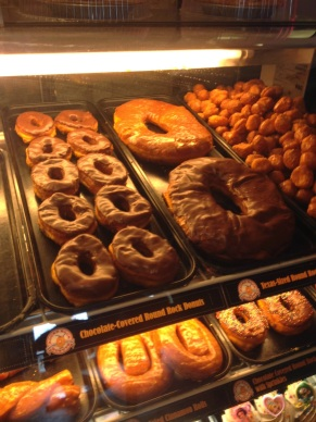 Get a Round Rock Donut - yes, they are THAT BIG.