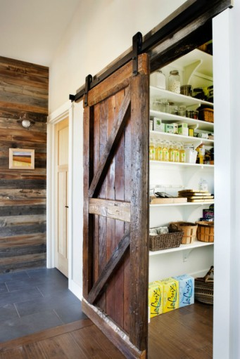 The perfect barn door to close off the mud room, laundry room, pantry, etc.