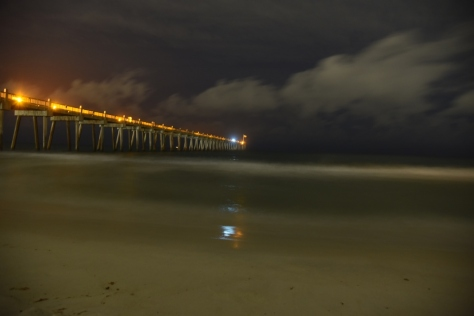 Pier at night in Pensacola
